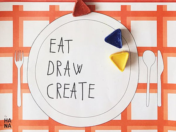 Eat, Draw, Create - sešit s aktivitami A3